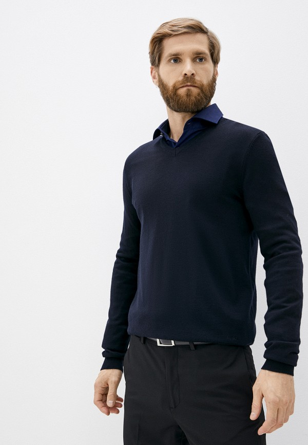 мужской пуловер hugo, синий