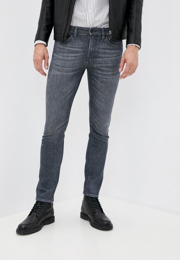мужские зауженные джинсы boss, серые