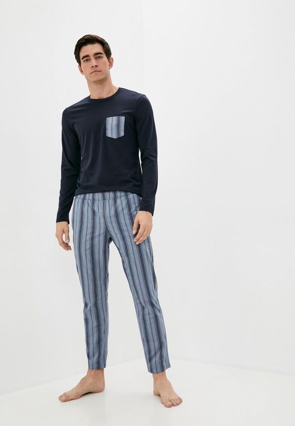 мужская пижама intimissimi, синяя