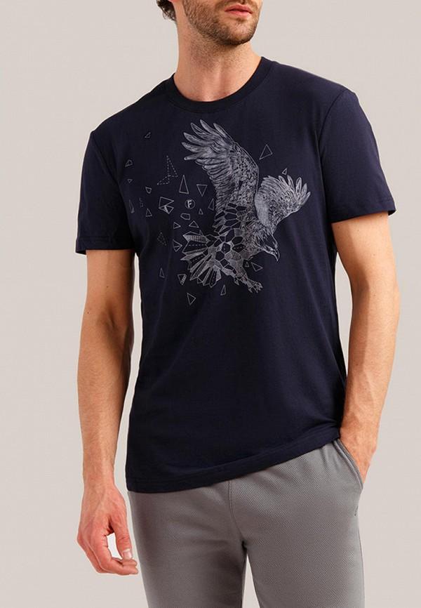 мужская футболка finn flare, синяя