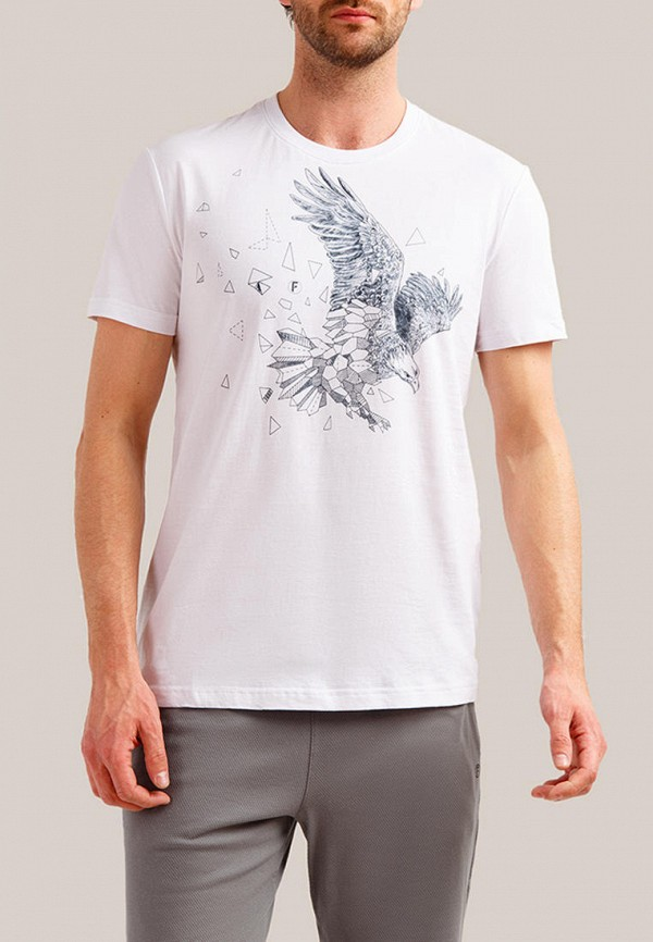 мужская футболка finn flare, белая