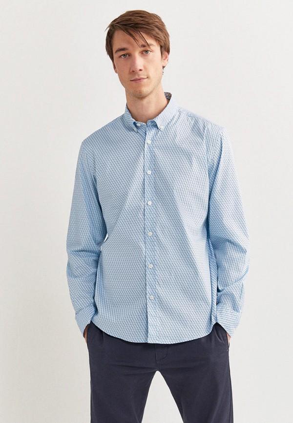 мужская рубашка с длинным рукавом springfield, голубая