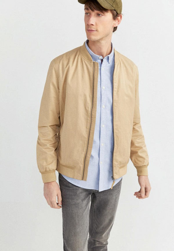 мужская куртка springfield, бежевая