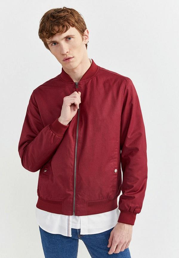 мужская куртка springfield, бордовая