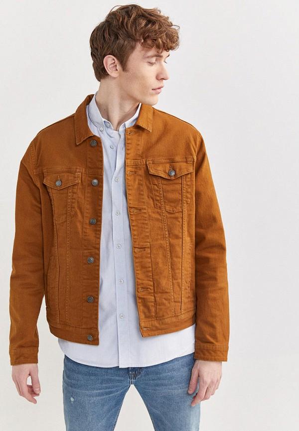 мужская джинсовые куртка springfield, бежевая
