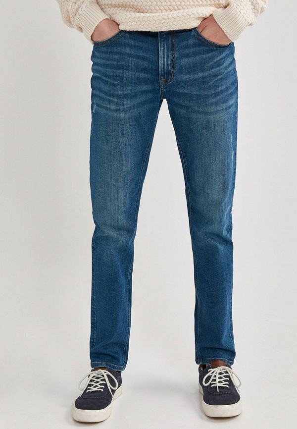 мужские прямые джинсы springfield, синие
