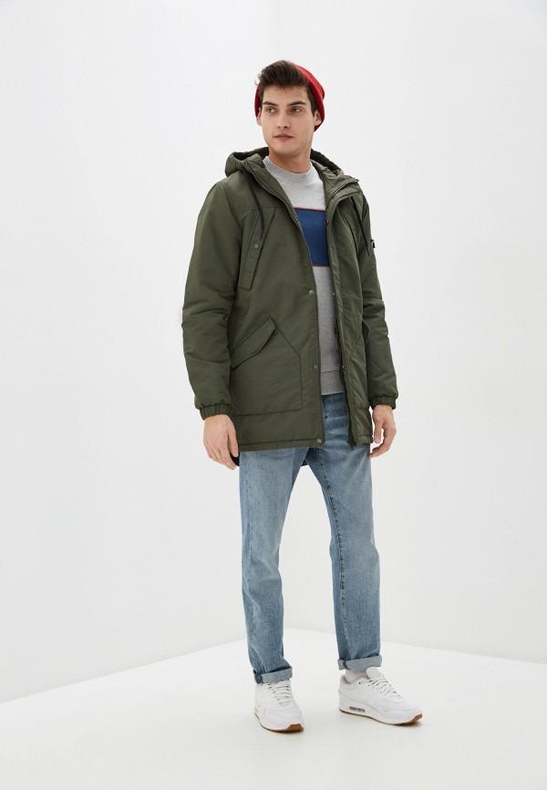 Фото 2 - Куртку утепленная Befree цвета хаки