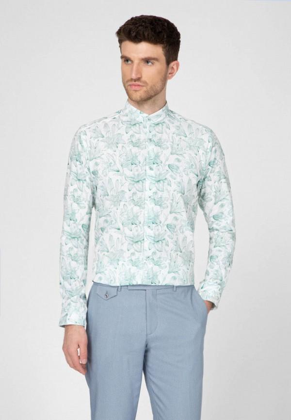 мужская рубашка с длинным рукавом navi, белая