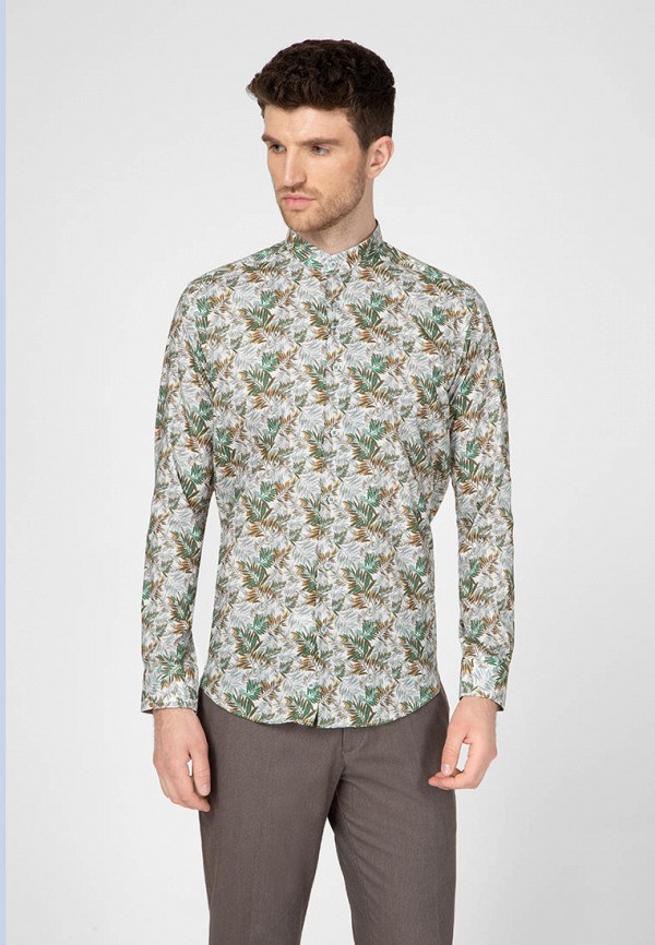 мужская рубашка с длинным рукавом navi, зеленая