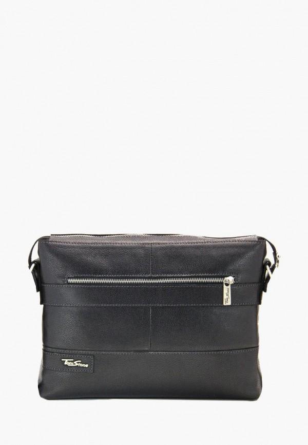 мужская сумка tom stone, черная