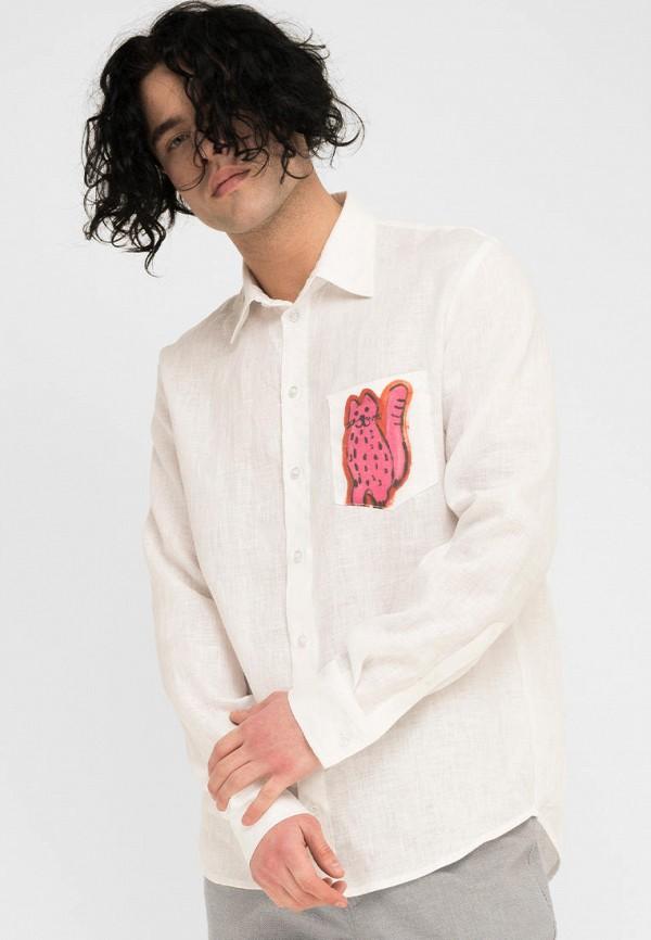 мужская рубашка с длинным рукавом the hugs, белая