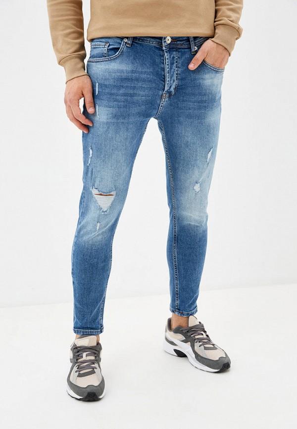 мужские прямые джинсы defacto, синие