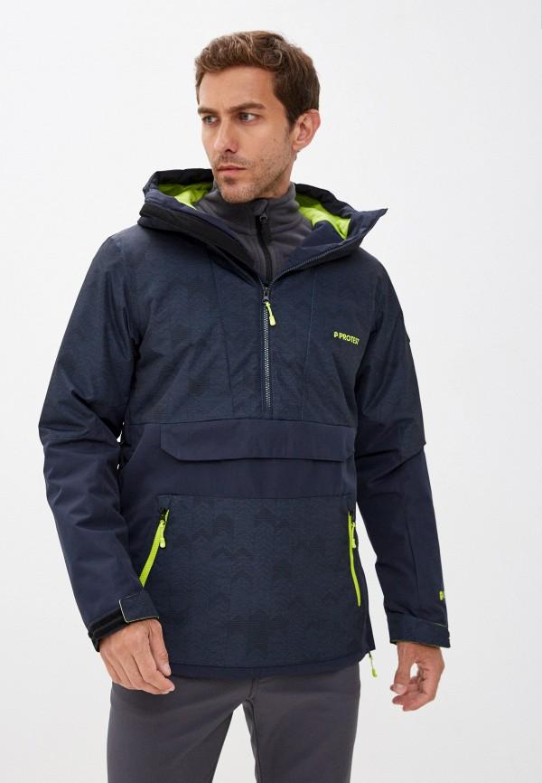 мужская сноубордические куртка protest, синяя