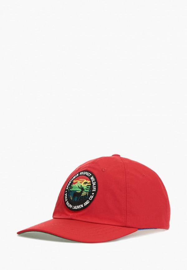 мужская бейсболка polo ralph lauren, красная