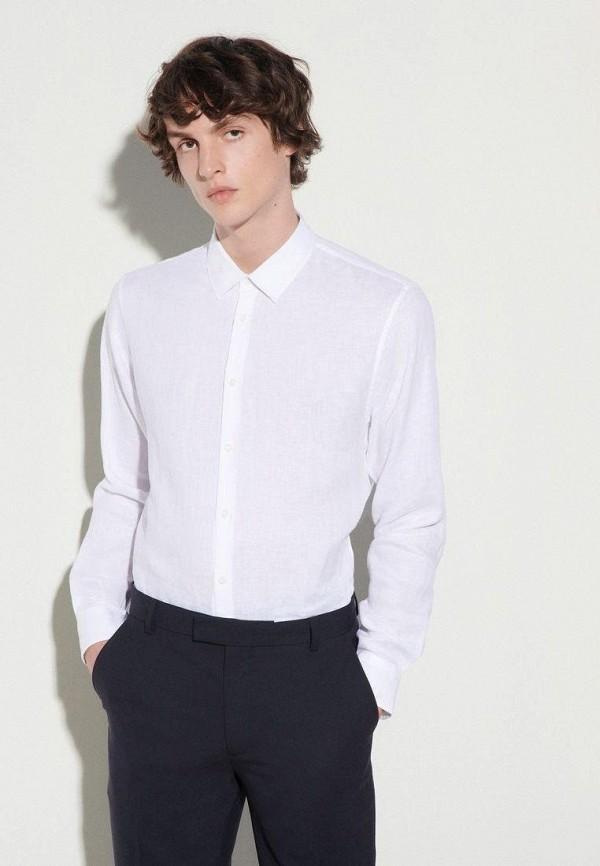 мужская рубашка с длинным рукавом sandro, белая