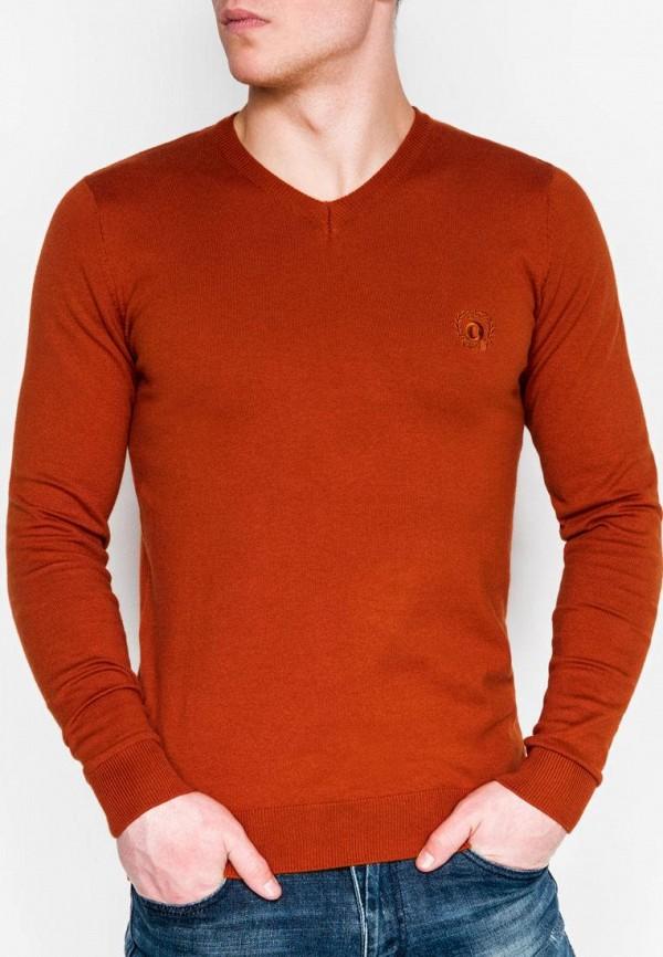 мужской пуловер ombre, коричневый