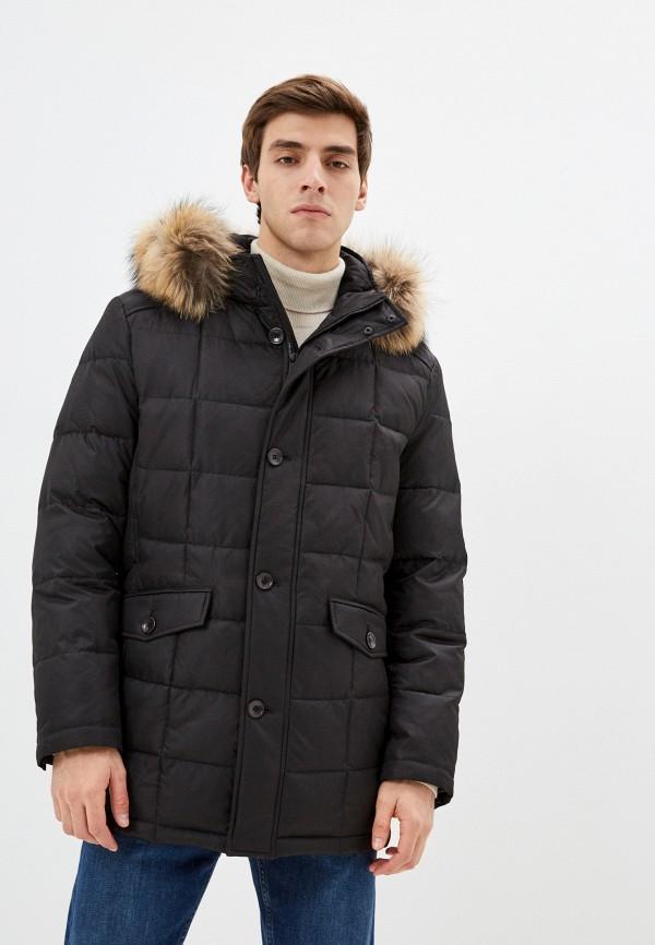 мужская утепленные куртка bazioni, черная