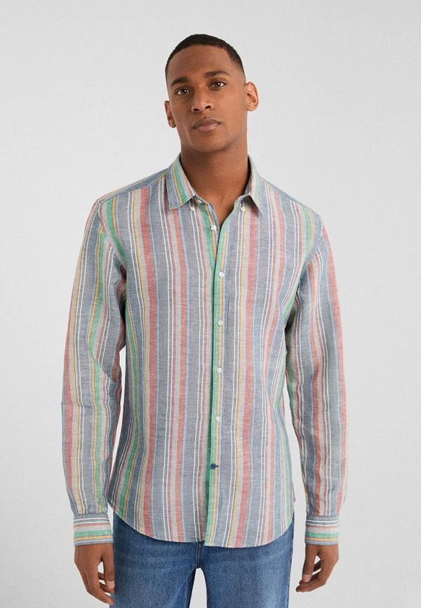мужская рубашка с длинным рукавом springfield, разноцветная