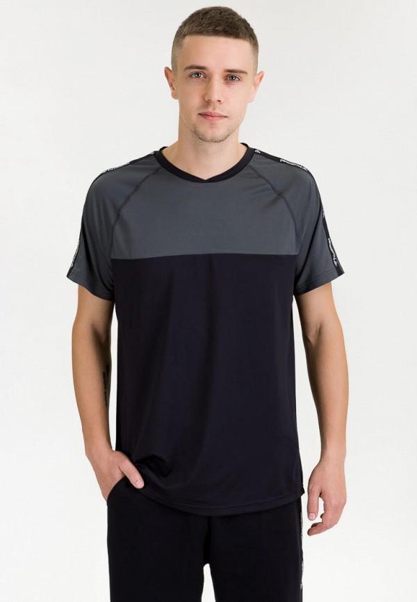 мужская спортивные футболка hummel, черная