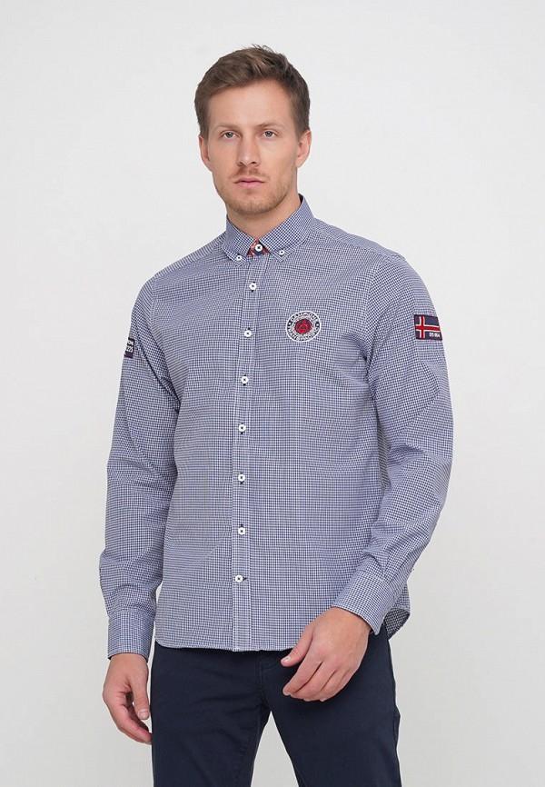 мужская рубашка с длинным рукавом campione, голубая