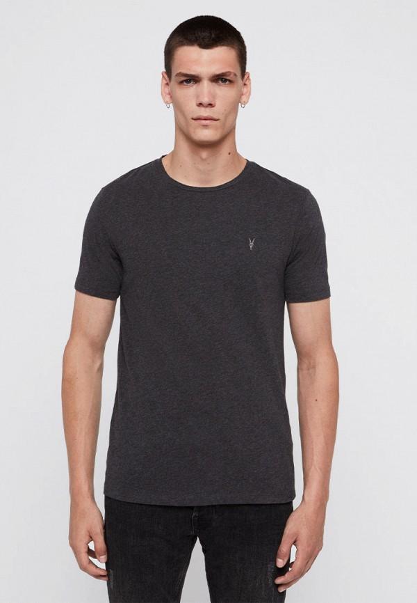 мужская футболка с коротким рукавом allsaints, серая