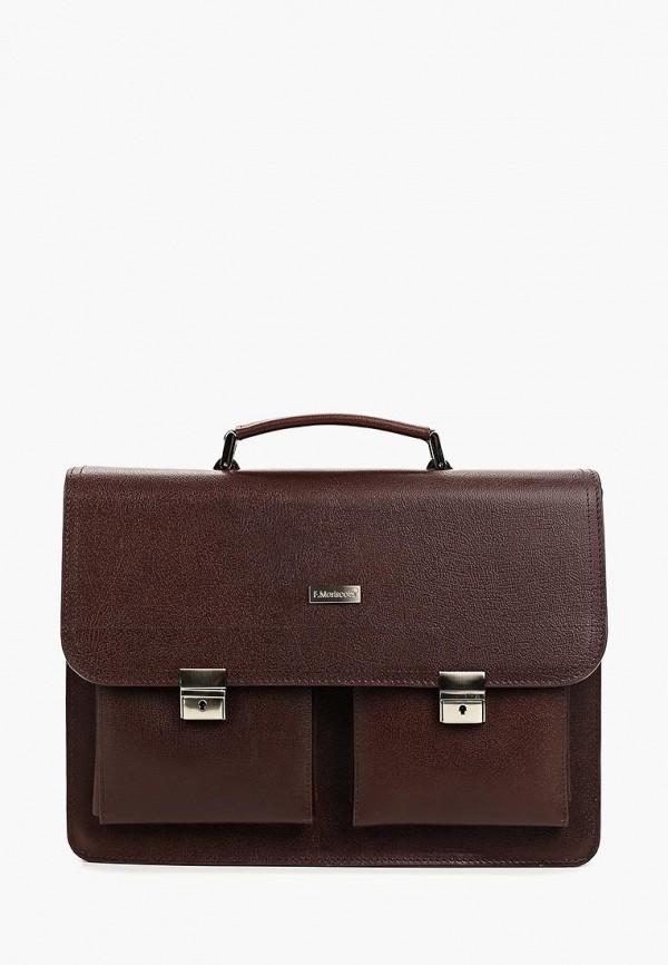 мужской портфель franchesco mariscotti, коричневый