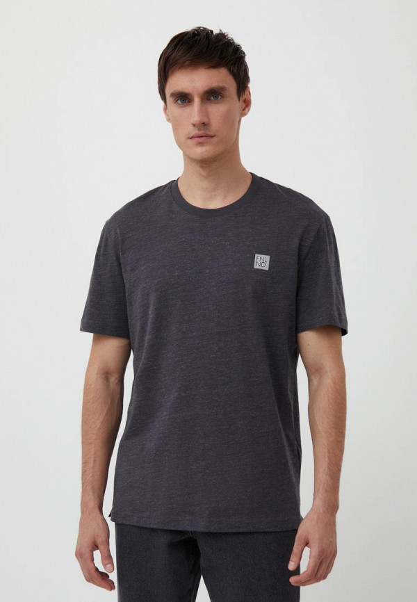 мужская футболка с коротким рукавом finn flare, серая