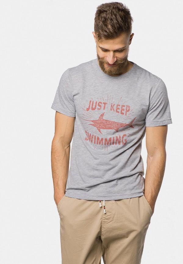 мужская футболка с коротким рукавом mr520, серая