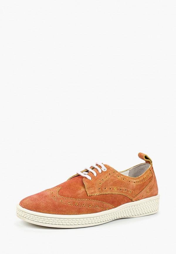 мужские туфли-дерби woodland, оранжевые