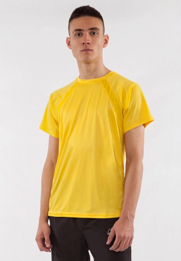 мужская спортивные футболка bodro design, желтая