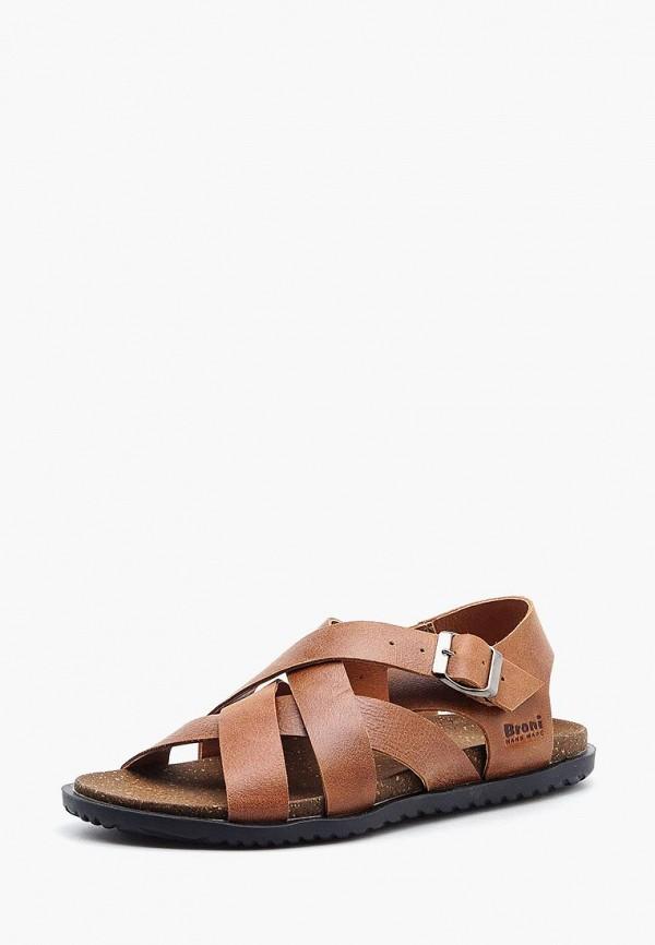 мужские сандалии broni, коричневые