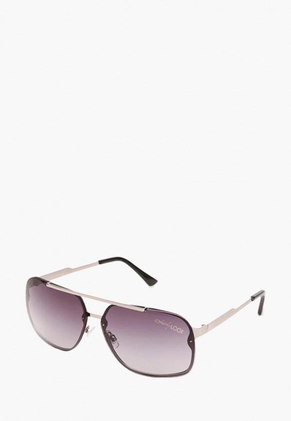 мужские солнцезащитные очки luckylook, серебряные