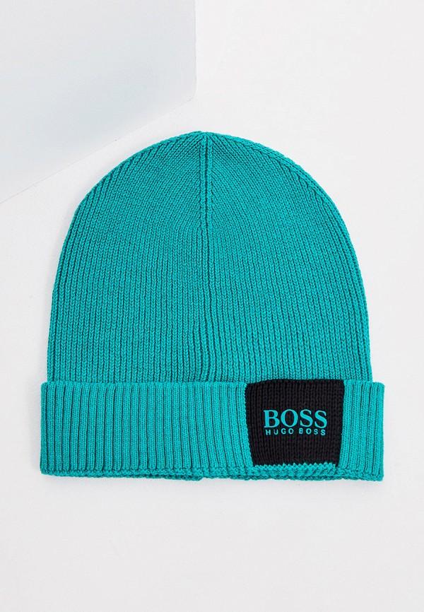 мужская шапка boss, бирюзовая