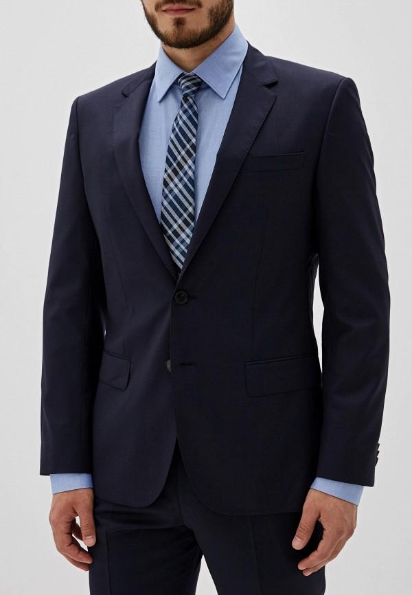 мужской пиджак hugo boss, синий