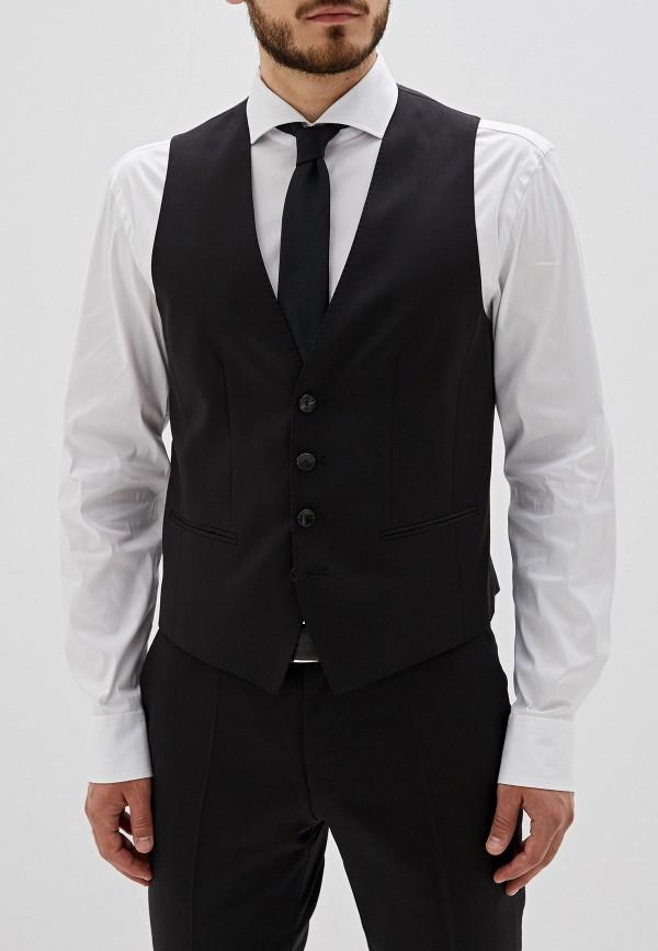 мужской жилет hugo boss, черный