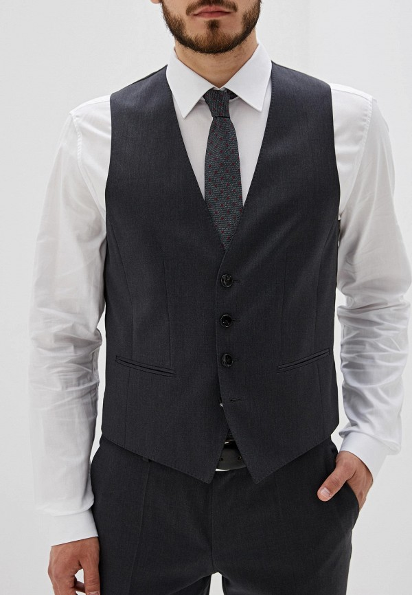 мужской жилет hugo boss, серый