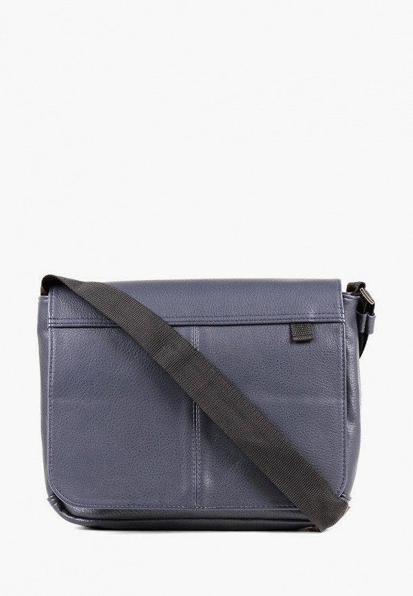 мужская сумка через плечо медведково, синяя