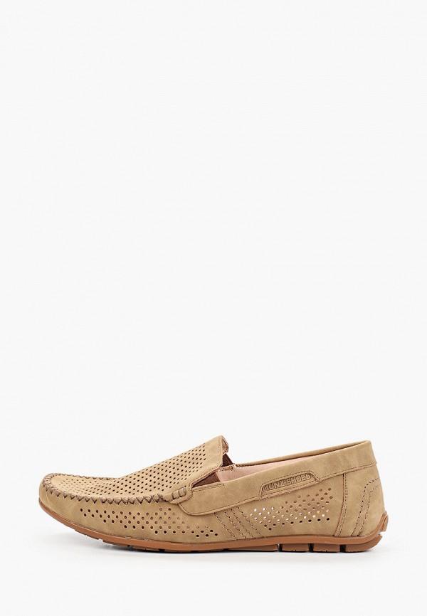 мужские мокасины munz-shoes, бежевые