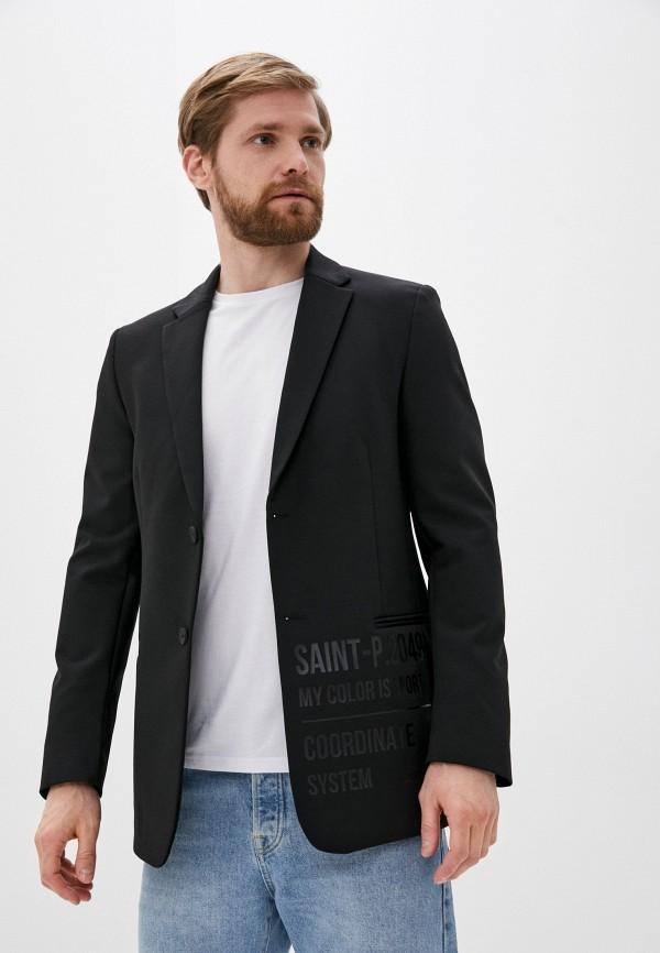 мужской пиджак urban tiger, черный
