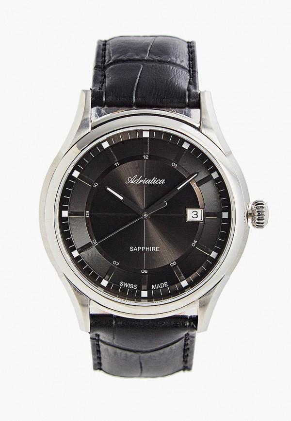 Часы Adriatica A2804.5216Q, цвет черный. Цена: 21100 р. Коллекция: Весна-лето 2020, Пол: men, Сезонность: мульти, Страна-изготовитель: Швейцария - фото 1