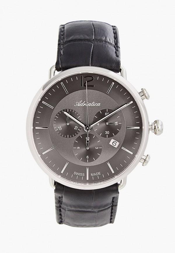 Часы Adriatica A8299.5256CH, цвет черный. Цена: 26000 р. Коллекция: Весна-лето 2020, Пол: men, Сезонность: мульти, Страна-изготовитель: Швейцария - фото 1