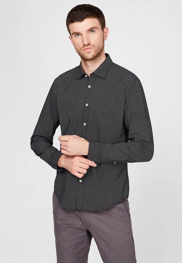 мужская рубашка с длинным рукавом esprit, серая