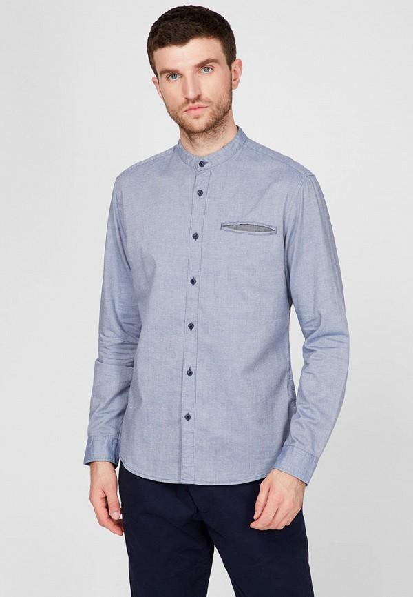 мужская рубашка с длинным рукавом esprit, голубая