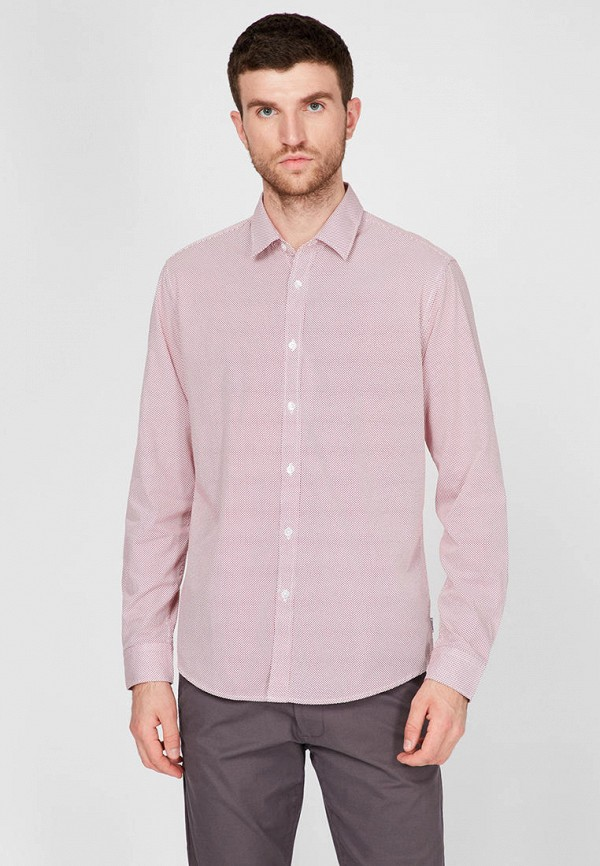 мужская рубашка с длинным рукавом esprit, розовая