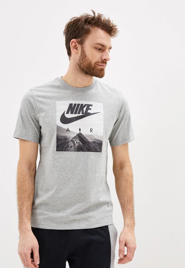 мужская спортивные футболка nike, серая