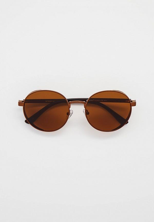 мужские круглые солнцезащитные очки matrix, коричневые