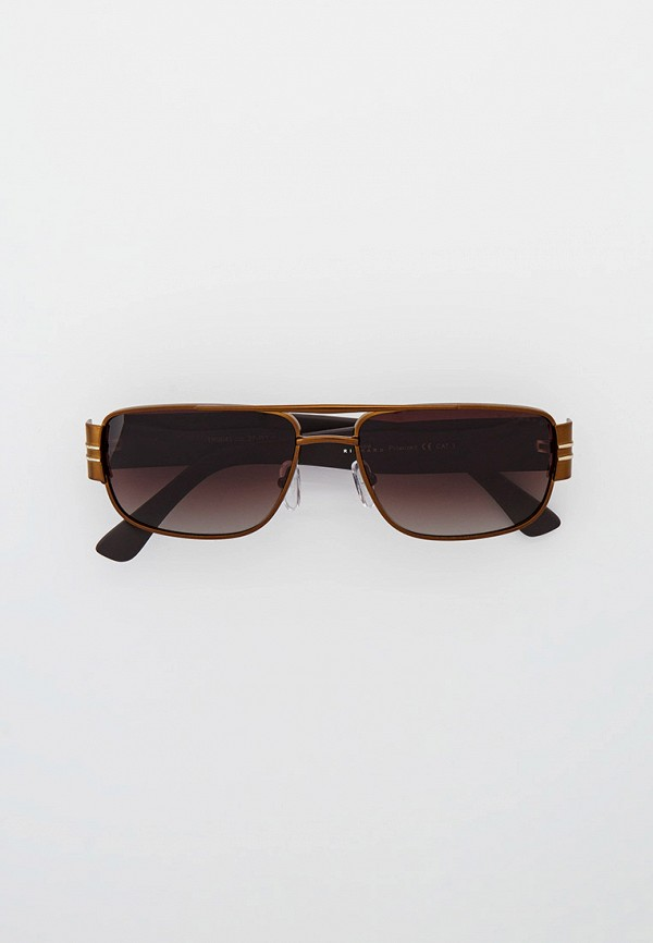 мужские квадратные солнцезащитные очки thom richard, коричневые