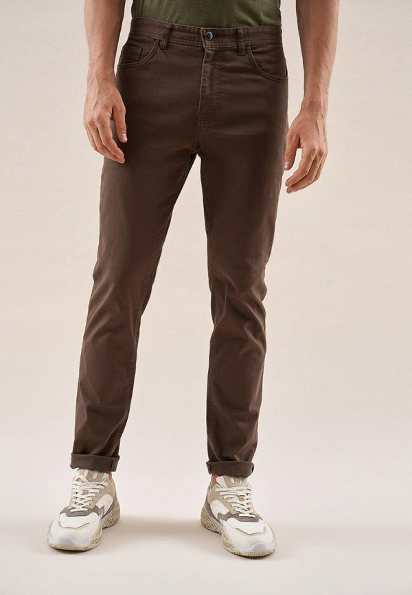 мужские повседневные брюки o'stin, коричневые