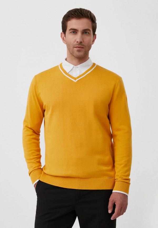 Пуловер Finn Flare желтого цвета