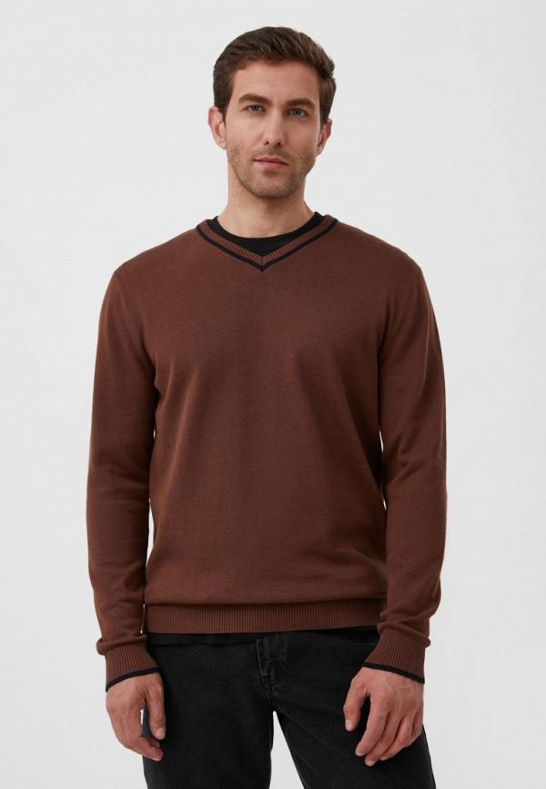 Пуловер Finn Flare коричневого цвета